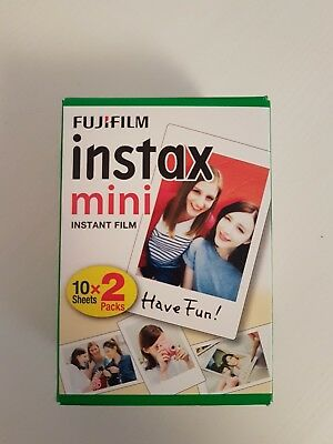 20 Photos Fuji Instax Mini Film Blanc Fujifilm