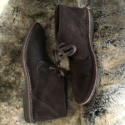 6008c62100f JOHN VARVATOS MEN'S brown suede leather ankle boots chukka desert 8 M EUC  $240