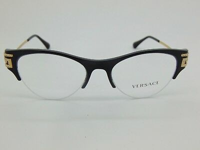 d5afc43561a7 NEW Authentic VERSACE Mod. 3226-B GB1 Shiny Black/Gold 51mm RX Eyeglasses