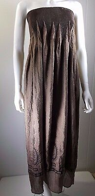 4ca003785164 MS&Co Lapis Anthropologie Brown Strapless Tube Top Long Women's Dress One  Size