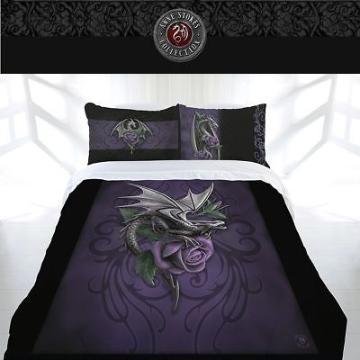 Anne Stokes Dragon Beauty King Bed Quilt Doona Duvet Cover Home Decor