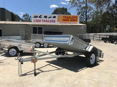 8x5 GALVANISED TRAILER | FULL CHECKERPLATE | TILT FUNCTION | FREE JOCKEY WHEEL