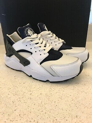 newest fb39f 89c1e Nike Air Huarache ID White Deep Blue White Mens Size 9 Great Condition