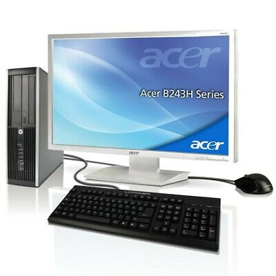"PC Komplett Set + Acer 24""TFT Computer Pentium 2x2.8 GHz 8GB RAM +SSD +HDD Win10"
