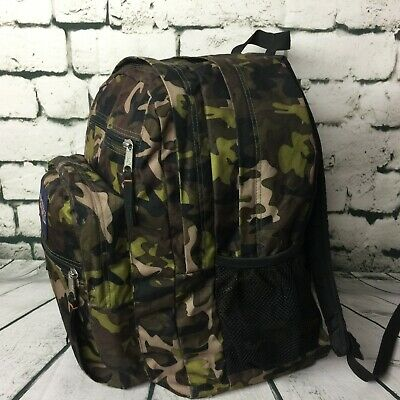 15ea25443c2 JANSPORT 34L Big Student Backpack Surplus Camo Schoolbag Travel Extra Large  Bag