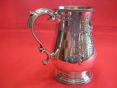 1872 James & Josiah Williams Exeter Solid Silver Pint Tankard.usa Connection.