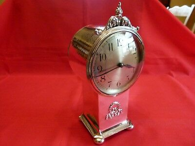 Quality A.e.jones Arts & Crafts Style,1922 Silver Mantle Clock.stunning Piece.