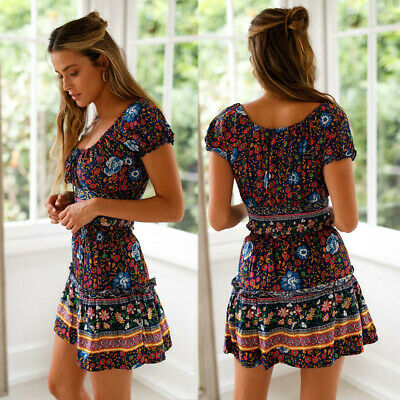 673a1e4e6c Womens Crop Tops Skirt Sets Two Piece Holiday Party Summer Boho Maxi  Sundress