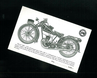 ORIGINAL Prospectus Publicitaire FAVOR 1928 type E. 250 cm3 - Catalogue Moto