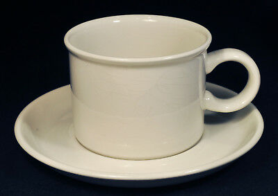 Set of 7 Midwinter Stonehenge White Coffee Cups & Saucers Member of Wedgwood