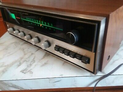 Kenwood Kr-4200 Vintage Stereo Receiver In Wood Cabinet Serviced * Nice!