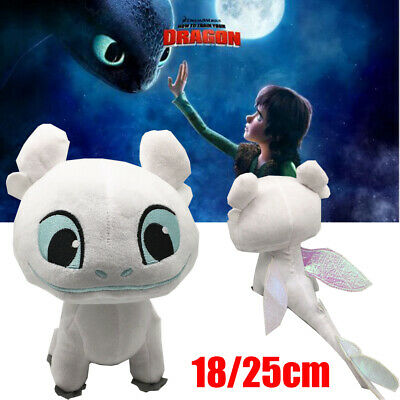 How To Train Your Dragon Night Fury White Plush Toy Stuffed Doll Toothless Gift