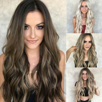 Fashion Long Natural Wavy Daily Party High Density Heat Resistant Wig For Women