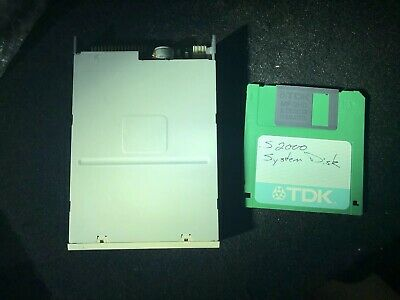 Akai S2000 Floppy Disk Drive With OS 2.0 Boot Disk , Tested And Working!!