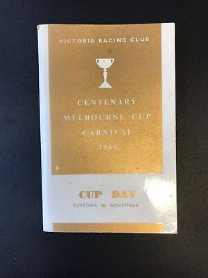 Victoria Racing Club Centenary Melbourne Cup Carnival 1960 Cup Day Race Book