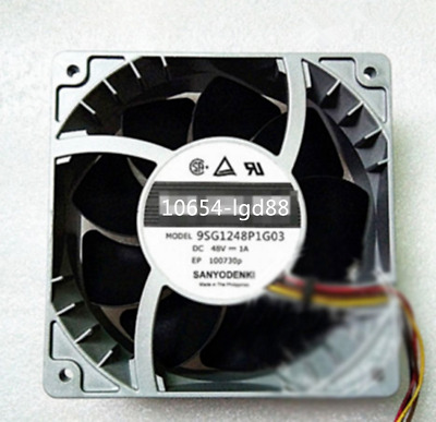 For 1 PCS Sanyo Fan San Ace 120 9SG1248P1G03 DC 48V 1A 12CM 12038 @6