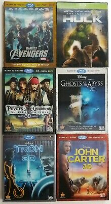 Disney Blu Ray 3D Lenticular Slipcovers Only | 6 Titles to Choose from | OOP
