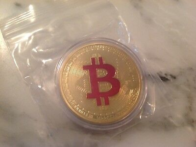 BITCOINS! Commemorative Bitcoin .999 Fine Copper Physical    Gold Plated