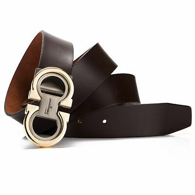 Men's Leather Belts Fashion Comfort Dress Belt Adjustable Buckle by Trim to Fit