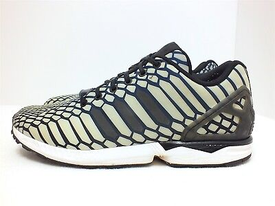 e3a2aa764b9 Adidas Originals ZX Flux Xeno Men s Running Shoes Navy Black White Size 10(