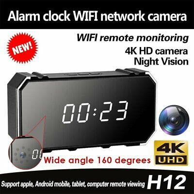 4K HD Wifi Hidden IR Spy Mirror Camera Security Home Surveillance Night Vision