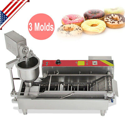Commercial Doughnut Maker Automatic Donut Maker Making Machine 3 Sets Free Mold