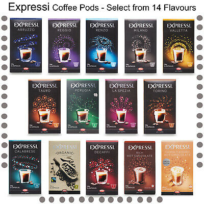 Expressi K-Fee Aldi Coffee Capsules Pods 14 Flavours to Choose (6 Boxes)