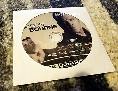 Jason Bourne 4K Ultra UHD Blu-ray (DISC ONLY in a white paper sleeve)