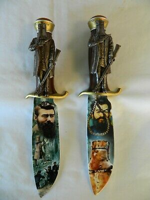 2 Bradford Exchange The Legend Of Ned Kelly Replica Knife Collection Knives