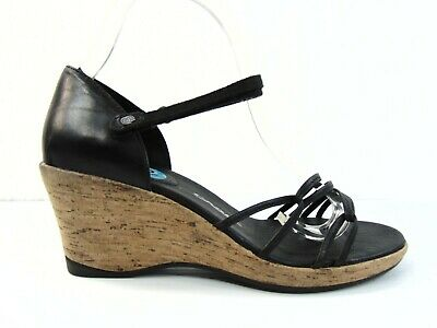 4505ce052d5f Teva Riviera Wedge Sandals Womens Size US 10 M Black Strappy Cork Wedge  1002021