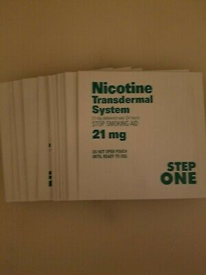 Rugby Nicotine CLEAR  Patch System 21mg  Step 1 exp date 11/2020