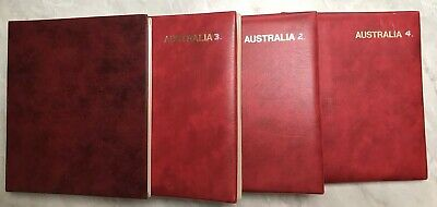 Australia Seven Seas 1914 - 2006 Four Album Collection Of 1800 + Used Cto Stamps