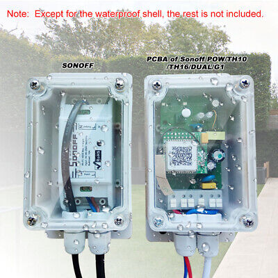 2X Sonoff IP66 Waterproof Case Enclosure Junction Box For Sonoff Basic RF E8E2