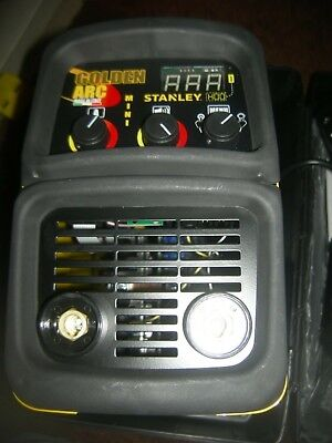 Stanley sw67825 golden arc welder with voice promt memory led display 24-160amp