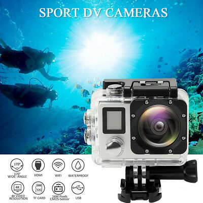4K Wifi HD 1080P Waterproof Sports Action 16MP Protable Camera DVR Cam Camcorder