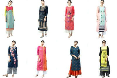 Indian Bollywood Crepe Printed Women's Kurta