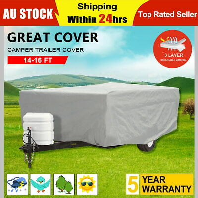 Camper Trailer Cover 14-16 ft |4.3-4.8m UV Protection Waterproof Oxford Fabric