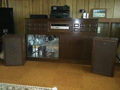 Vintage Stereo system in Teak Cabinet. TEAC, Thorens, Sound, Sonics, Akai more