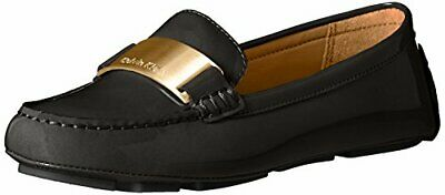 4c7add6b446 Calvin Klein Womens Lisette Leather Closed Toe Loafers
