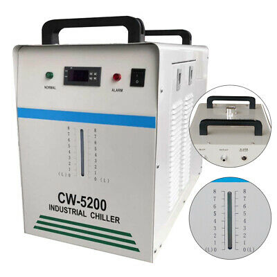 CW-5200 Industrial Water Chiller Cooler For CNC/CO2 Laser Tube Engraving Machine