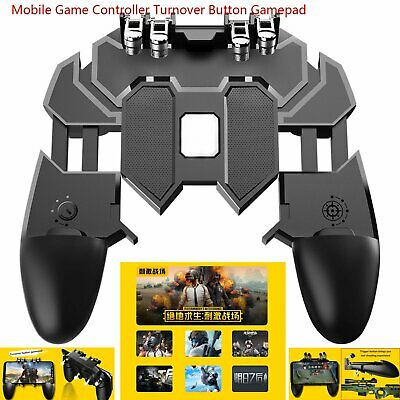 Portátil Gamepad Mobile Game Controller Turnover Button Para PUBG IOS Android FS