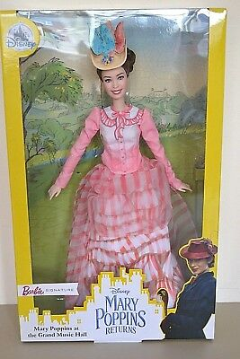 2018 Disney Exclusive MARY POPPINS AT THE GRAND MUSIC HALL Signature Barbie NEW
