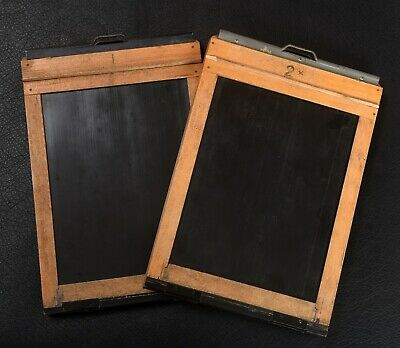 Two WWII Air Ministry RAF Half Plate Kodak Plate Holders also fit 5x7
