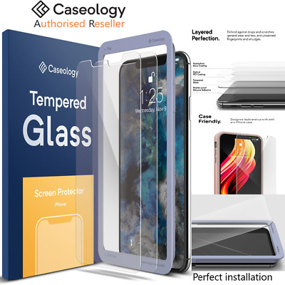 iPhone XS Max XR XS X 8 7 Plus Screen Protector, Caseology Tempered Glass 2 Pack
