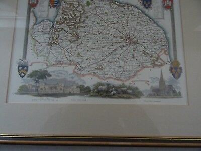 Vintage map of Norfolk showing the Hundreds of the County