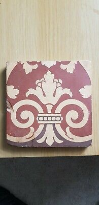 minton encaustic victorian church tile 6x6 inch pugin 1850 rare sim westminster