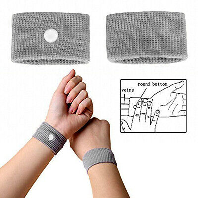 1 Pair Motion Sickness Relief Wrist Band Acupressure Car Sea Anti-Nausea  Soft