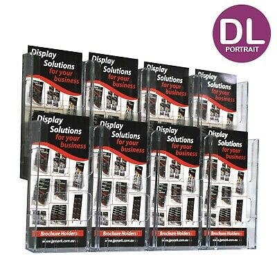 Brochure Holder Wall Display System DL x8