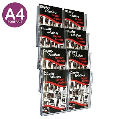 Brochure Holder Wall Display System A4 x8