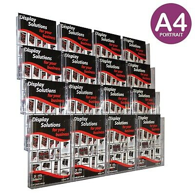 Brochure Holder Wall Display System A4 x16